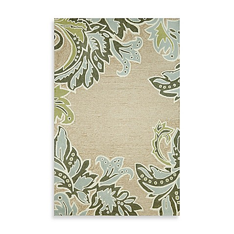 Ornamental Leaf Border 5-Foot x 7-Foot 6-Inch Rug