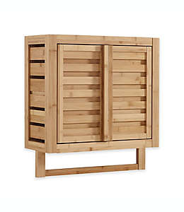 Gabinete de bambú para pared Haven™ color natural
