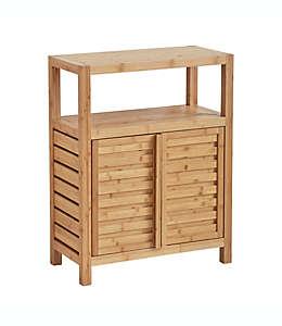 Mueble organizador de bambú para baño Haven™ color natural