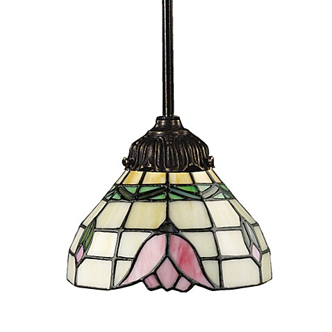 ELK Lighting Tiffany Bronze Mix-N-Match 1-Light Mini Pendant Lamp in Tulip