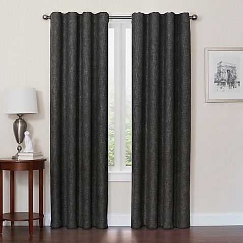 Quinn 63-Inch 100% Blackout Insulated Rod Pocket/Back Tab Window Curtain Panel in Black