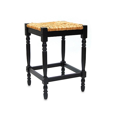 Carolina Chair & Table Company Antique Hawthorne Counter Stool in Black