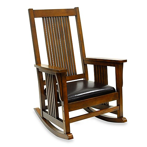 carolina chair & table company mission rocker in chestnut - bed