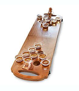 Set de Beer Pong de madera pulida