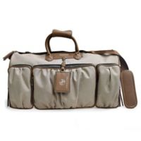 Adrienne Vittadini 22 Inch Rugged Two Tone Collection Duffel-Natural Deals