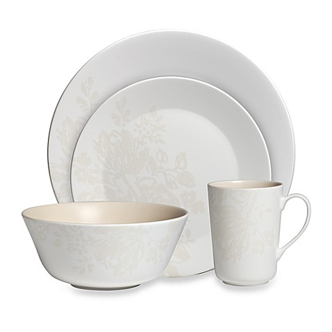 Monique Lhuillier Waterford® Bliss Cream 4-Piece Place Setting