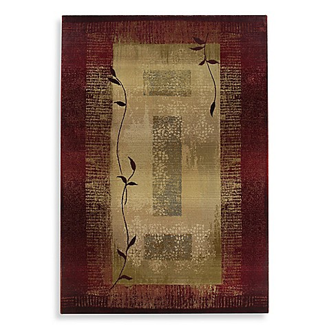 Oriental Weavers Generations Area Rug In Red Climbing Vine