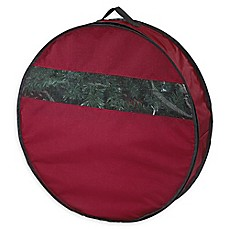 image of Neu Home 24-Inch Holiday Wreath Storage Bag in Red
