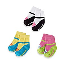 image of Elegant Baby® Size 0-12M Ankle Janes (Set of 3)