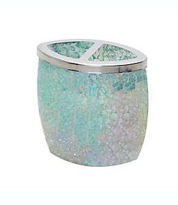 Portacepillos de dientes de vidrio India Ink Aurora® craquelado color pastel