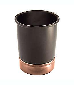 Portacepillos de dientes de metal iDesign® York con acabado bronce aceitado