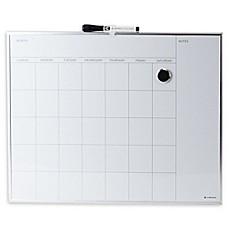 Metal Framed Magnetic Dry Erase Board With Calendar Grid