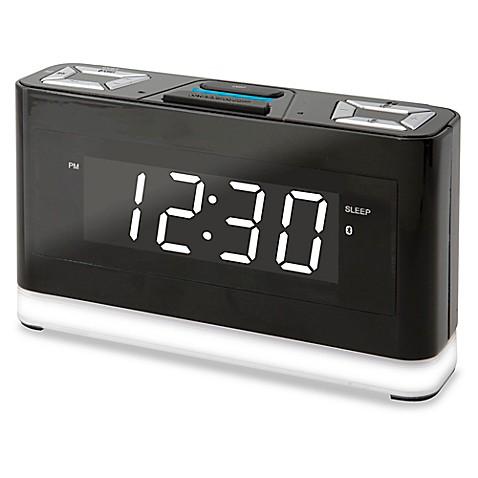 Wireless Voice Activated Alarm Clock with Alexa in Black ...