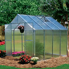 image of Riverstone Monticello 8-Foot x 8-Foot Extruded Aluminum Residential Greenhouse