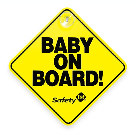 Safety 1st®  Baby On Board Sign in Yellow