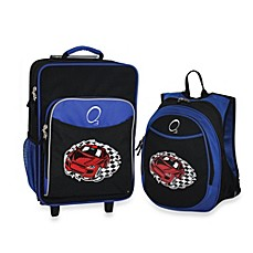 image of O3 Kids Luggage and Backpack Set with Cooler in Race Car