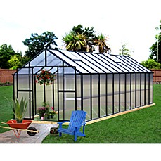 image of Riverstone Monticello 8-Foot x 24-Foot Residential Greenhouse in Black