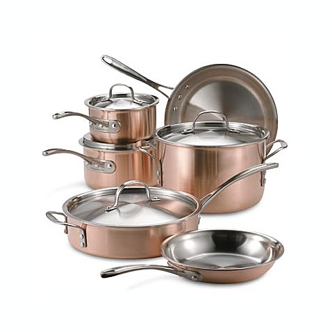 triply copper 10piece cookware set