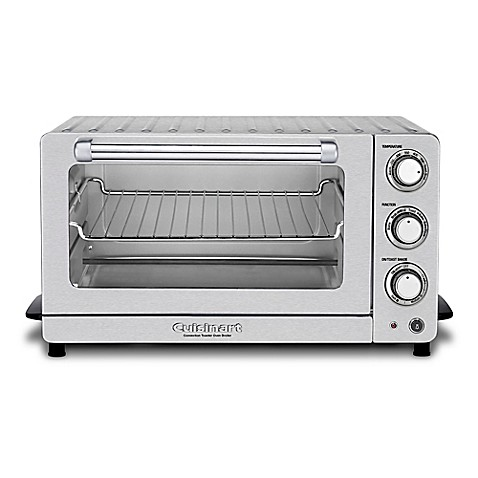 Cuisinart toaster oven broiler with interior oven light in stainless steel bed bath beyond for Toaster oven stainless steel interior