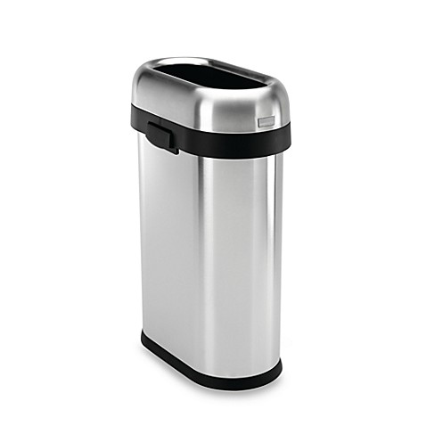 Bed Bath And Beyond Stainless Steel Trash Can Kitchen
