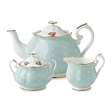 image of Royal Albert Polka Rose 3-Piece Tea Set