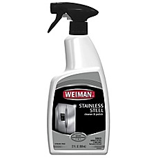 image of Weiman® Stainless Steel Cleaner & Polish in 22-Ounce Spray Bottle