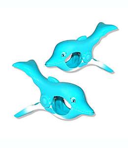 Pinzas para toalla de plástico Boca Clips® con forma de delfín, 2 piezas