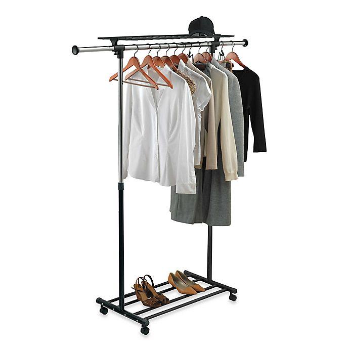 Heavy Duty Chrome Portable Adjustable Garment Rack Bed Bath Beyond