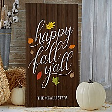 image of Happy Fall Y'All Standing Wood Sign