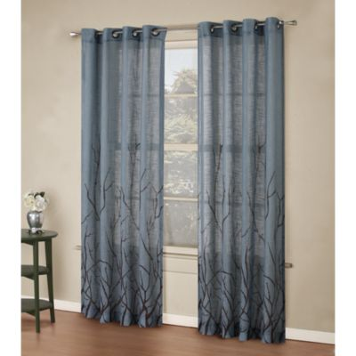 Alton Print Grommet Window Curtain Panel Bed Bath Amp Beyond