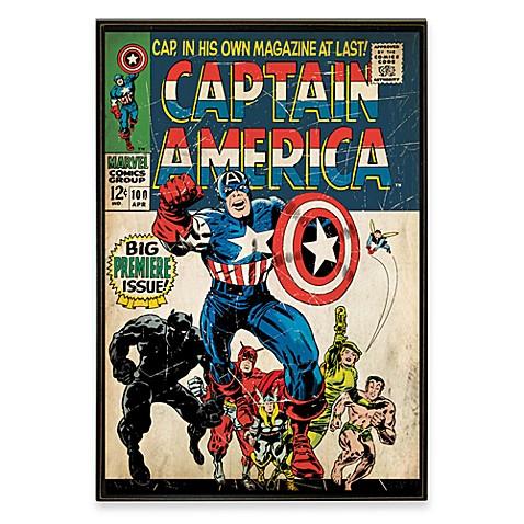 Captain America Marvel Comic Book Wall Décor Plaque