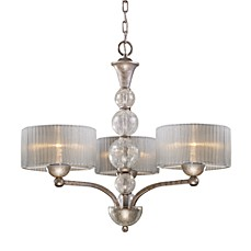 image of ELK Lighting Alexis 3-Light Chandelier in Antique Silver