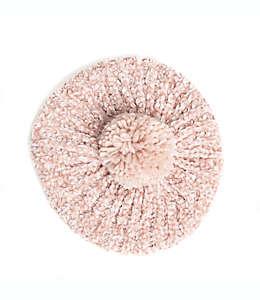 Boina de chenilla con resorte en rosa blush