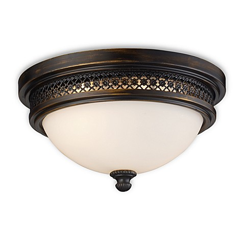 ELK Lighting Flush Mount 2-Light Fixture in Deep Rust