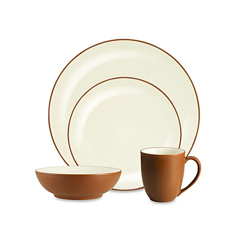 Noritake® Colorwave 4-Piece Coupe Place Setting in Terra Cotta