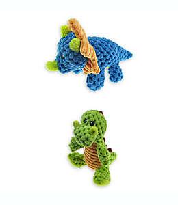 Juguete Mini Dino de tela Bounce & Pounce multicolor, Set de 2 piezas