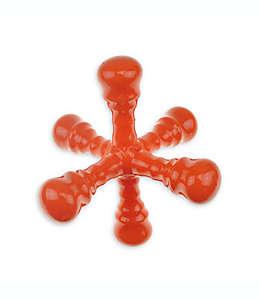 Mordedera Bounce & Pounce para perro en forma de estrella de caucho en naranja