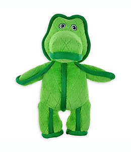 Lagarto con sonido Bounce & Pounce para mascota de tela acolchada en verde
