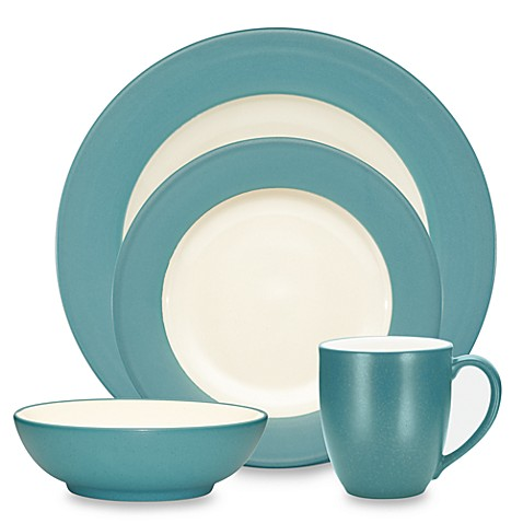 Noritake\u0026reg; Colorwave Rim Dinnerware Collection in Turquoise  sc 1 st  Bed Bath \u0026 Beyond : bed bath and beyond dinnerware - pezcame.com