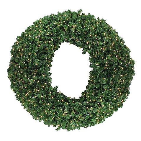 60 inch pre lit commercial wreath