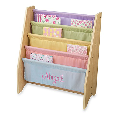"KidKraft® Personalized ""Lauren"" Girl's Sling Bookcase with Pastel/Pink Lettering"