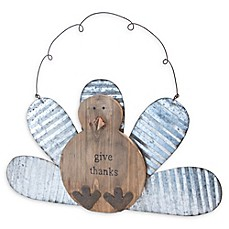 "image of Boston International ""Give Thanks"" Wobbly Hanging Turkey in Brown/Silver"