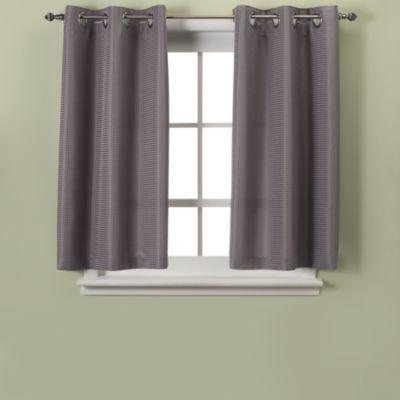 Hookless Waffle 45 Inch Bath Window Curtain