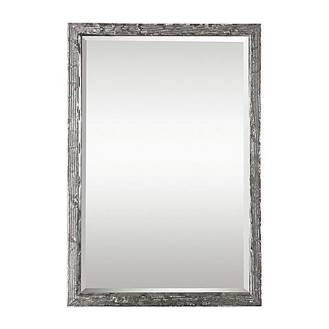 Uttermost Webster 36 Inch X 24 Rectangular Wall Mirror In Distressed Silver