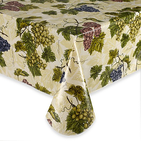 Buy Grape Vine 52 Inch X 52 Inch Vinyl Tablecloth From Bed