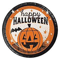 creative converting 24 piece happy halloween dessert plates