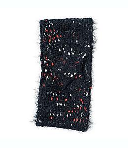 Diadema tejida con lunares en negro