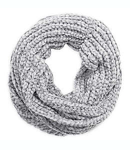 Bufanda tejida en gris