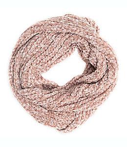 Bufanda tejida en rosa