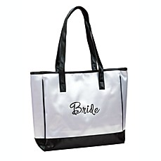 image of Lillian Rose™ Bride White Tote Bag